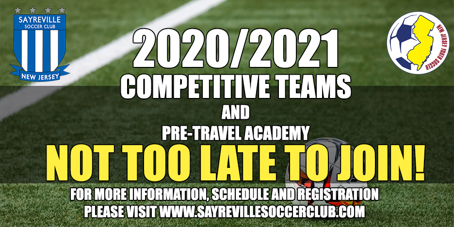 2020/2021 Competitive Teams and Pre-Travel Academy Registration